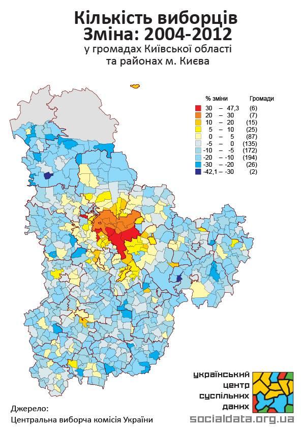 мапа руху населення в Київській області 2004—2012