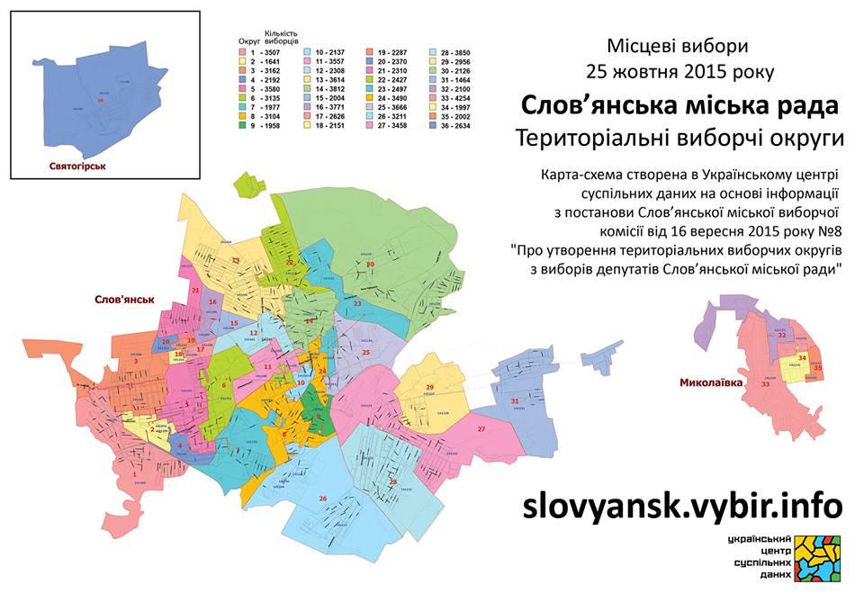 Slovyansk Districts small